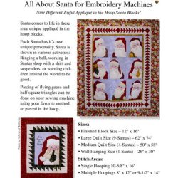 All About Santa Machine Embroidery CD