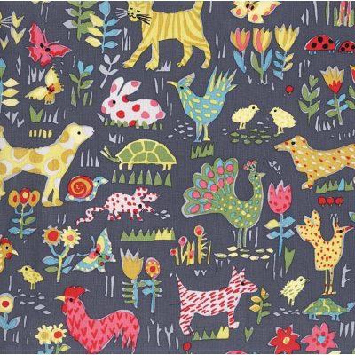 DC7556 Backyard Animals from Michael Miller Fabrics
