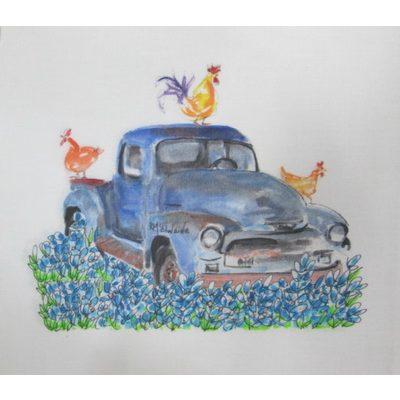 Kathleen McElwaine Blue Truck