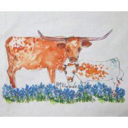 Kathleen McElwaine Quilt Art Block Longhorn