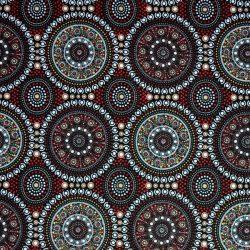 Aboriginal Australian Print Bush Berry Red