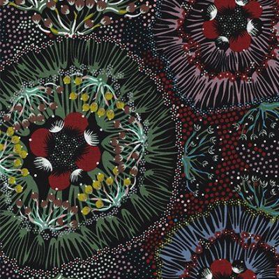 Aboriginal Design Bush Plum Black