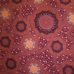 Aboriginal Fabric Caming Ground Magenta