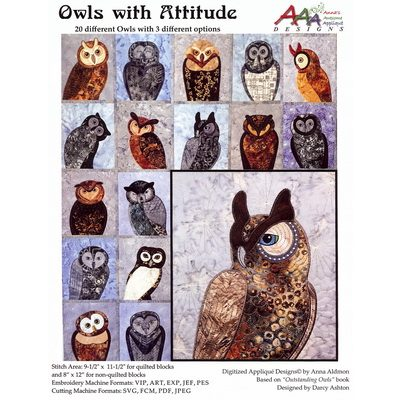 Anna's Awesome Applique Owls for Machine Embroidery