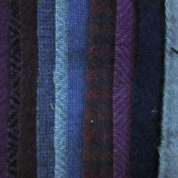 "Primitive Gatherings 5"" Squares of wool"